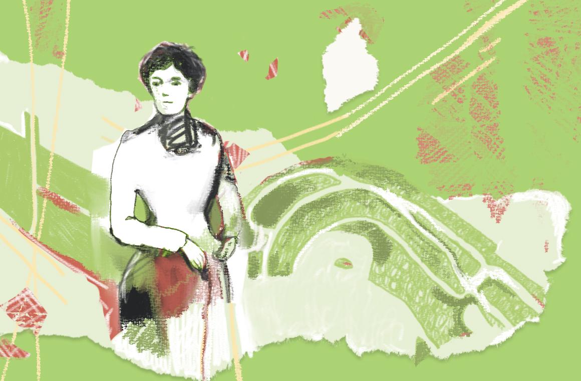 Сквер Жанны Лябурб: коллизии памяти и современность